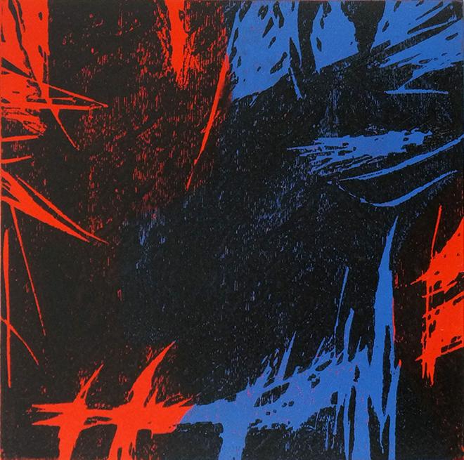 Nightfall No. 2 Woodcut edition of 40 20 x 20cm unframed £290 (Framed £360, 37 x 37 cm)
