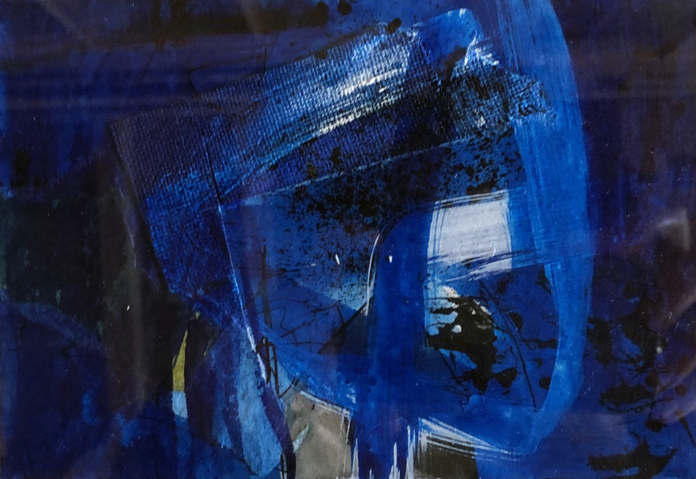 Nocturne No.15 original acrylic and collage on paper 10.5 x 15 cm unframed £380, framed 425